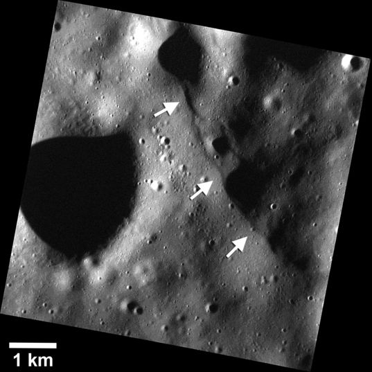 Tiny fault scarps on Mercury