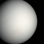 Venus in natural color from MESSENGER