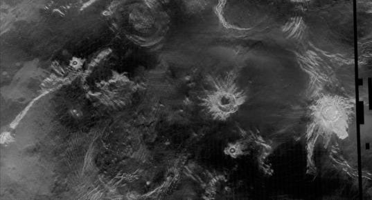 Venus' very pretty craters