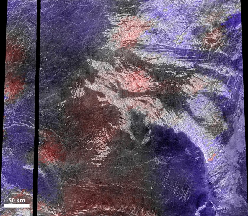 Colorized topographic data overlaid tessera terrain image
