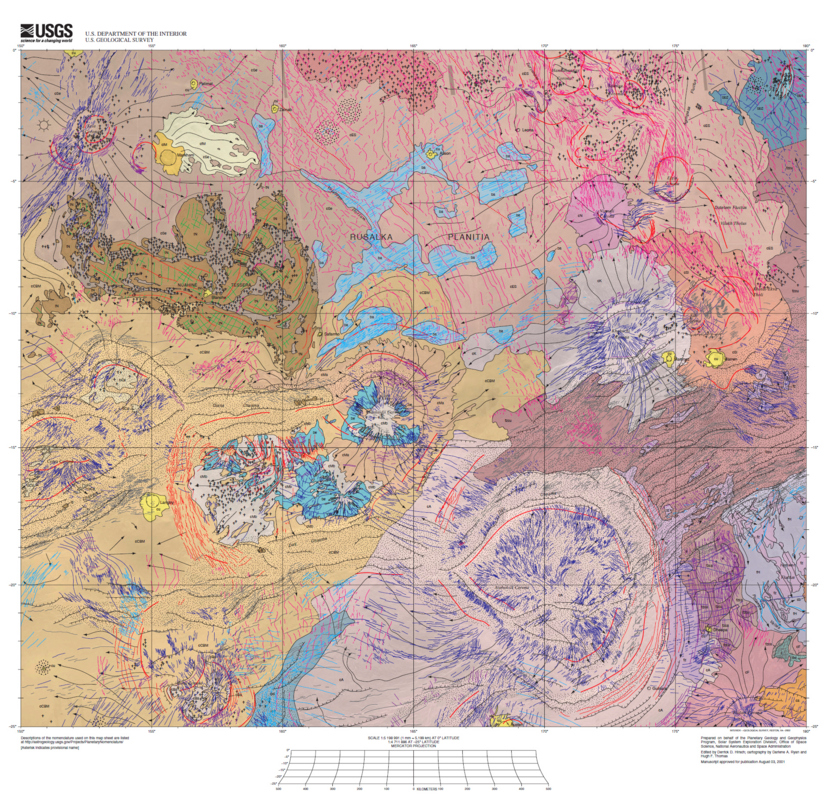 Map of the Diana Chasma Quadrangle of Venus