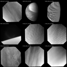 Example Venus Monitoring Camera images from Venus Express