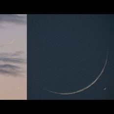Two crescents: New moon, old Venus