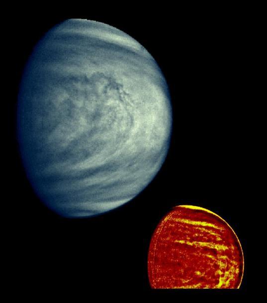 Venus' upper atmospheric clouds