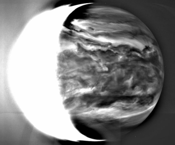 Venus' glowing nightside from Akatsuki