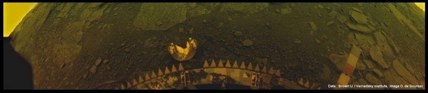 Surface of Venus from the Soviet Venera 13 lander