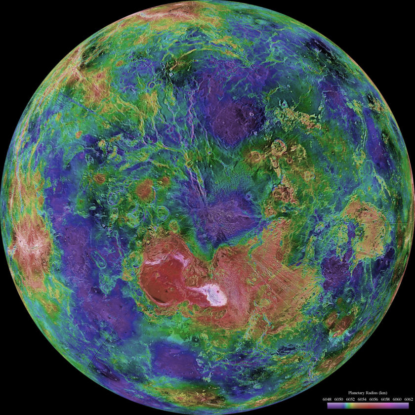 Venus: North Polar hemispheric view