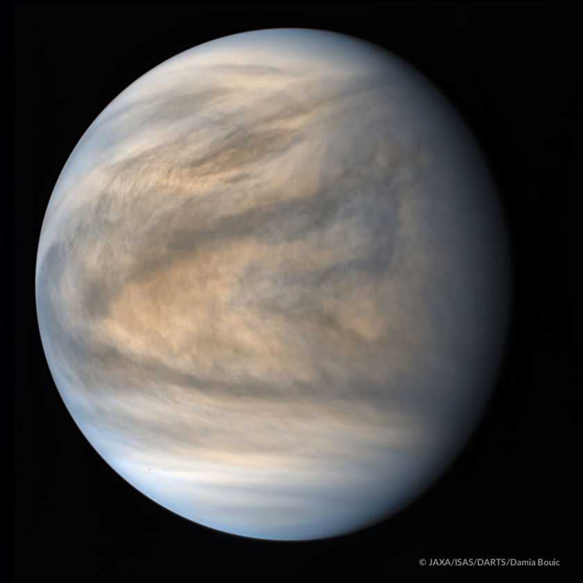 Global view of Venus in ultraviolet from Akatsuki, May 17, 2016