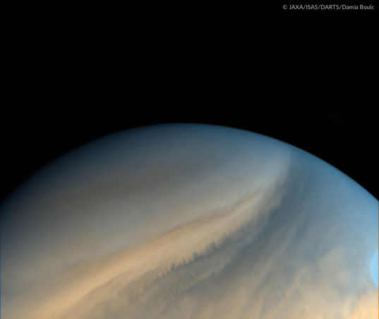 Venus' south pole in ultraviolet from Akatsuki, June 20, 2016