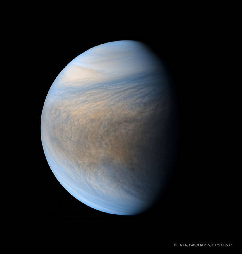 Composite view of Venus from Akatsuki