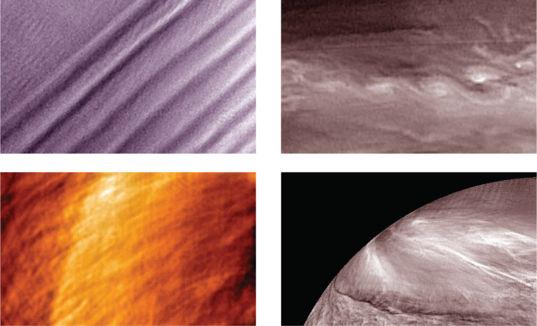 Venus' Varied Cloud Patterns