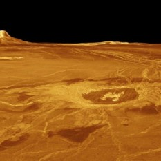 Venus's surface from radar data