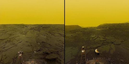 Images of Venus's surface from Venera 13