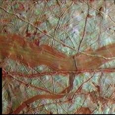 Europa's red bands