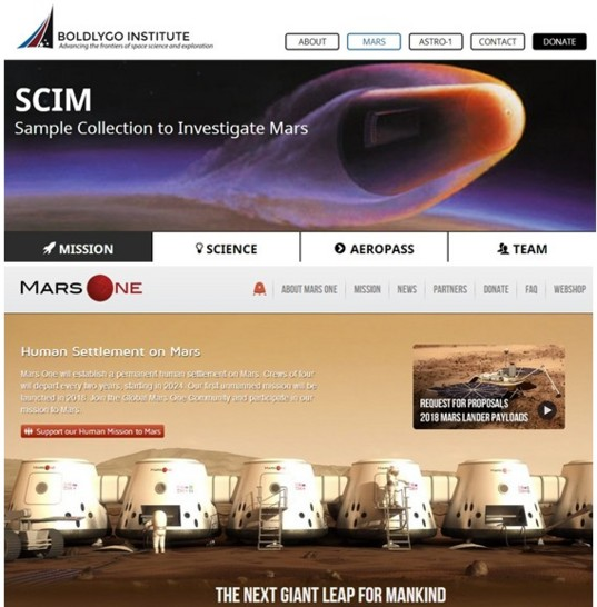 Private Mars missions