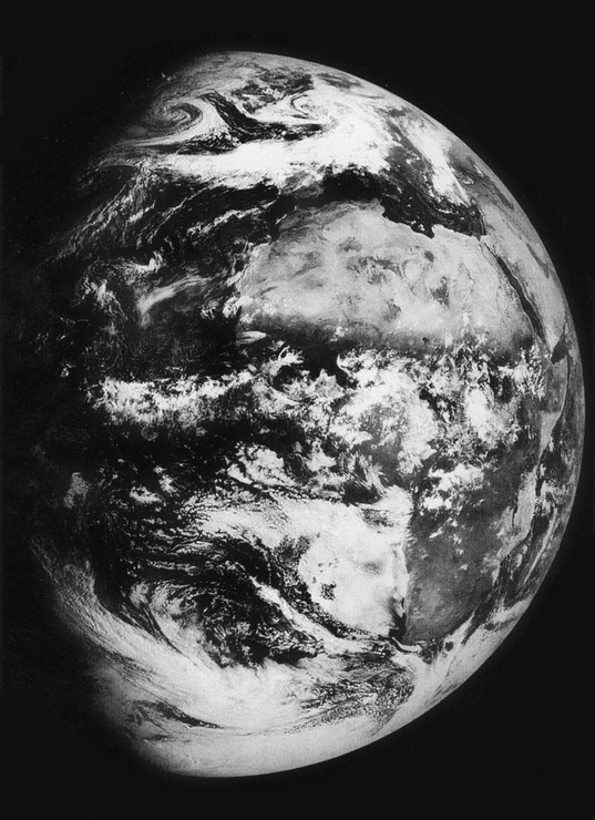 Zond 5 image of Earth