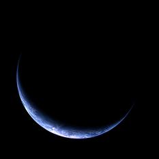 Crescent Earth from Rosetta