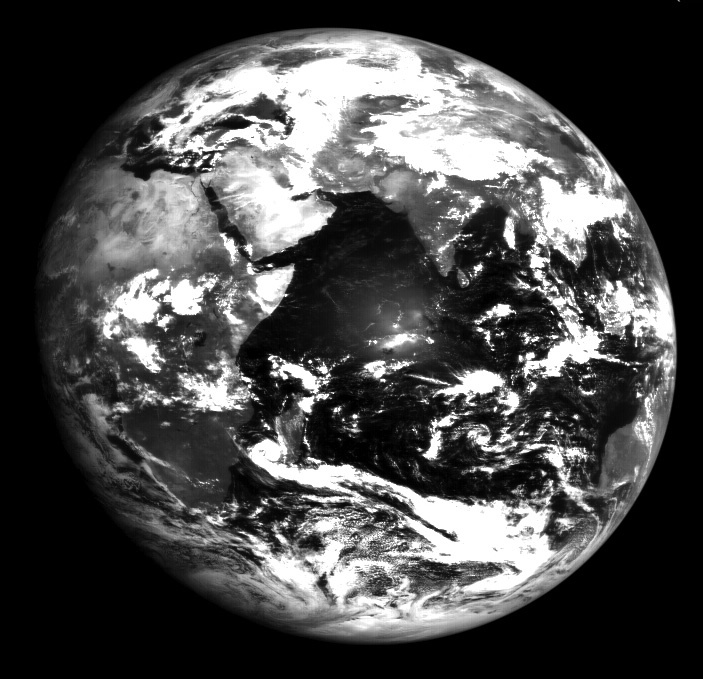 Image of Earth from Chandrayaan-1