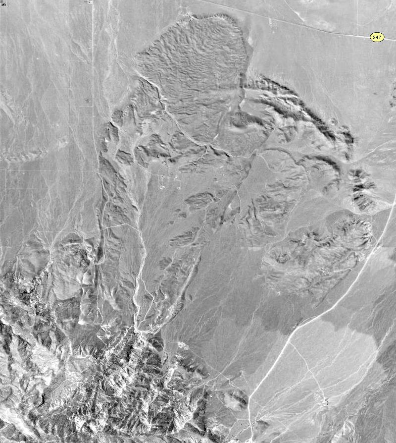 Aerial view of the Blackhawk Landslide, in California