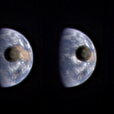 The Moon transiting Earth, as seen from Deep Impact (sequence)