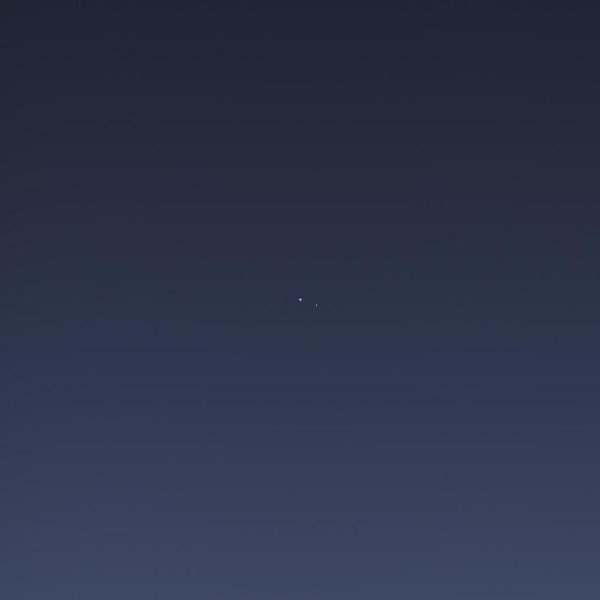 Earth and the Moon from Cassini (wide)