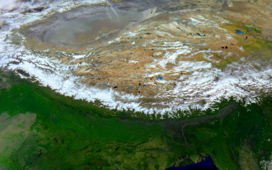 Himalayas from Elektro-L