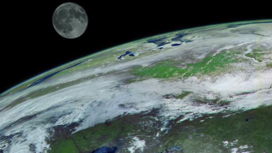 Earth and Moon from Elektro-L