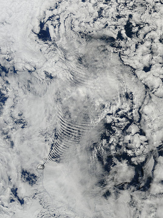 Cloud ripples from MODIS Terra