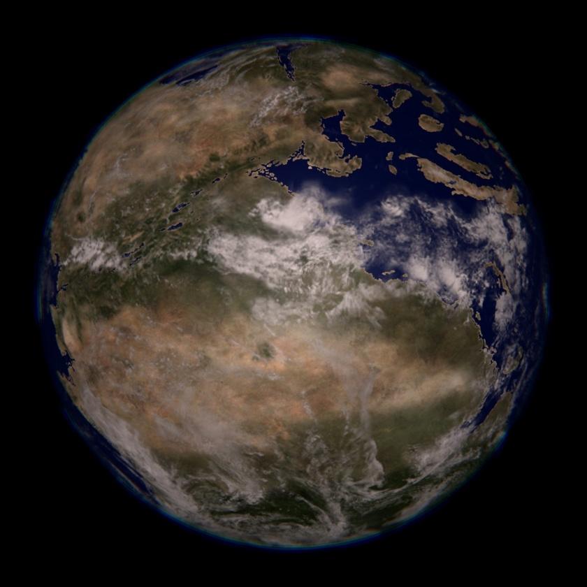 Earth, 220 million years ago