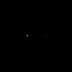 Earth and Moon from Juno