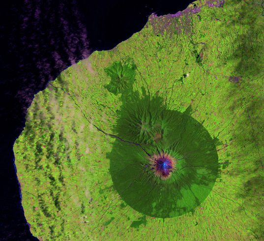 Mount Taranaki on January 13, 2010 (Landsat