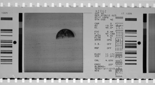 Earth, as seen by Surveyor 7