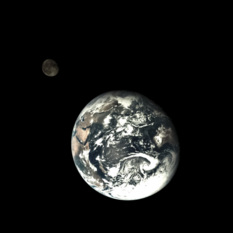 Earth and the Moon from Chang'e-5 T1