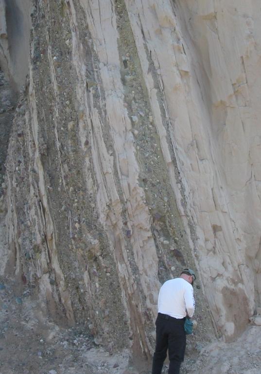 Younger cretaceous rock outside the park