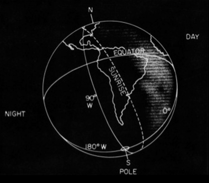 Context for Surveyor 3's photo of Earth from the lunar surface