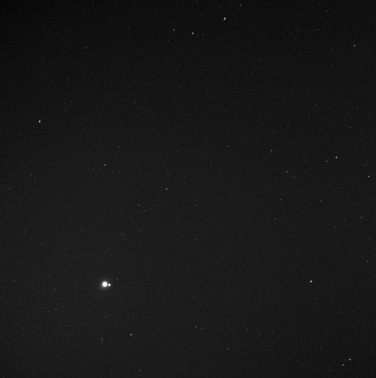 Earth and the Moon from much closer to the Sun