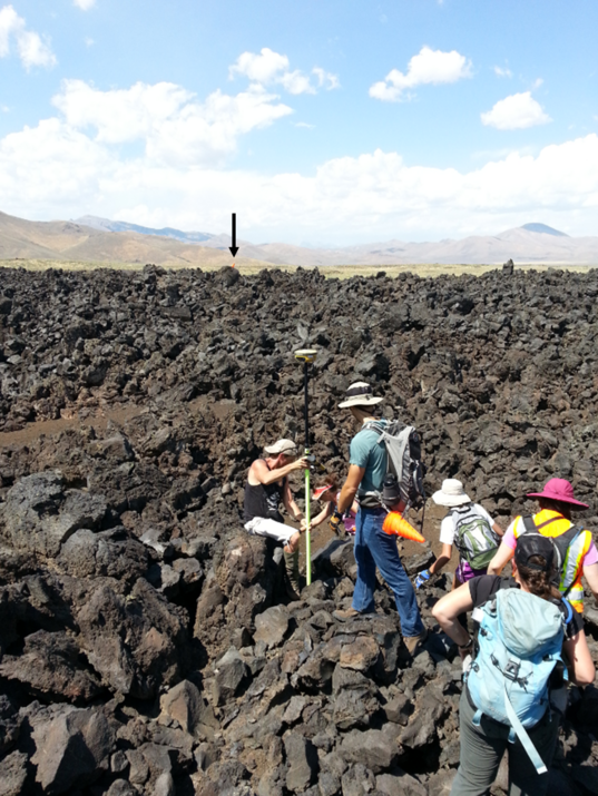 Surface roughness measurements of the lava flows using differential GPS