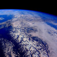 Canadian Rockies (or Coast Mountains) from ISS