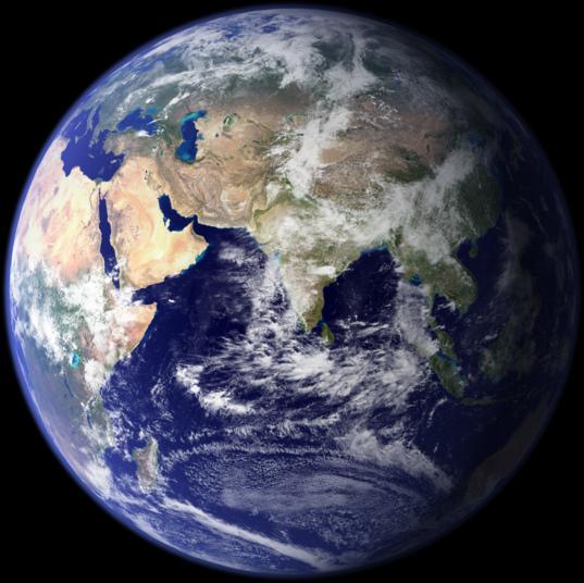 Earth's Eastern Hemisphere