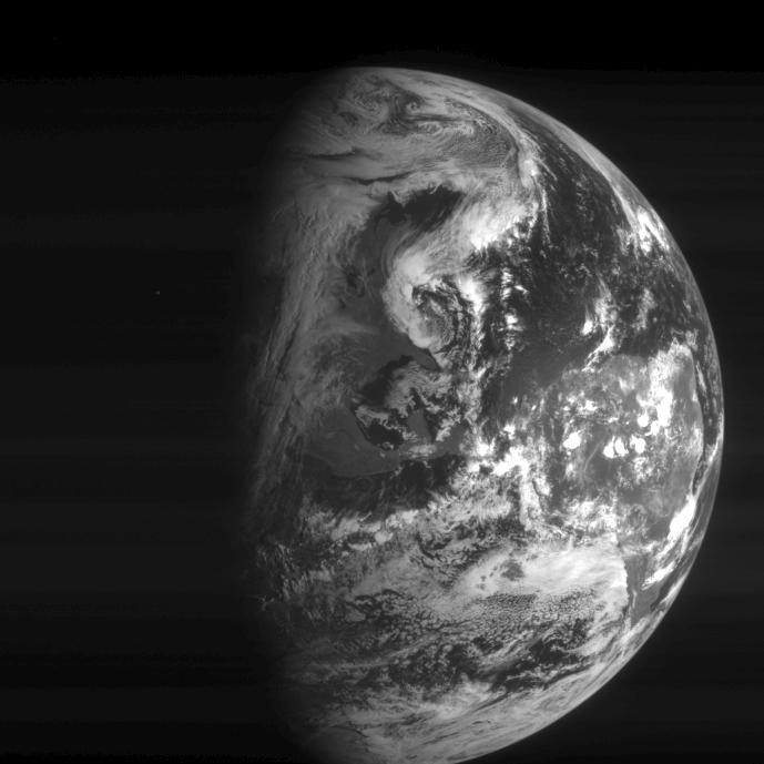 Rosetta Navigational Camera view of Earth, November 13, 2009