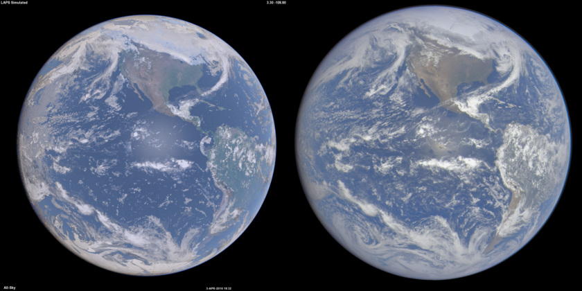 Synthesized vs. actual DSCOVR data