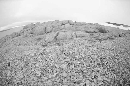 A closer view of the outcrop