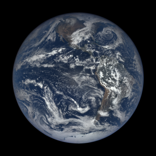 Earth Western Hemisphere from DSCOVR, Nov. 8, 2016