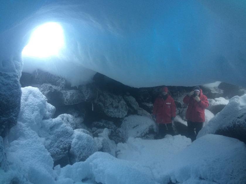 Mt. Erebus ice cave