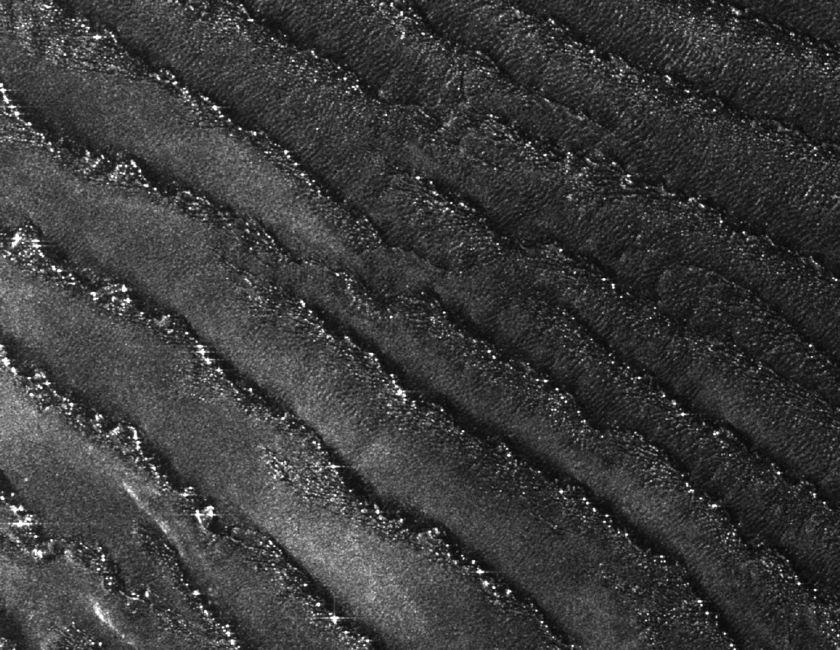 Longitudinal sand dunes, Namibia