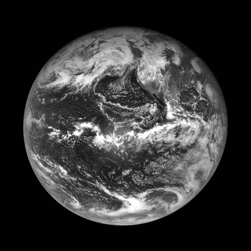 OSIRIS-REx' first departing view of Earth after flyby