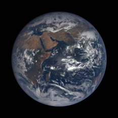 DSCOVR image of Earth, October 3, 2017
