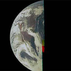 JunoCam Earth flyby movie