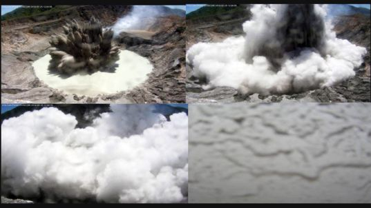Phreatomagmatic eruption at Poás volcano, Costa Rica
