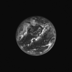 OSIRIS-REx NavCam view of Earth, just after flyby